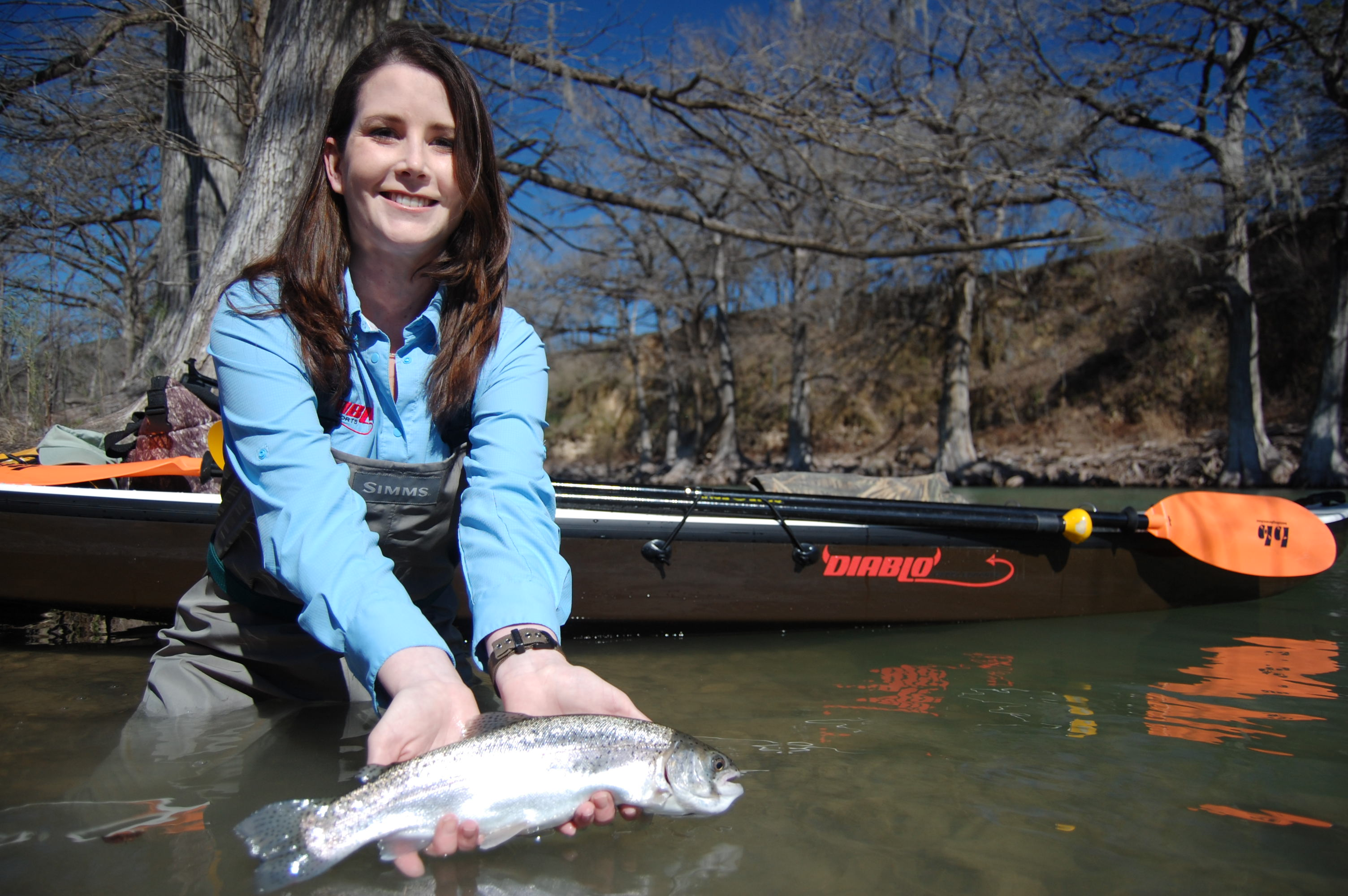 Guadalupe fly fishing guide fly fishing texas for Trout fishing in texas